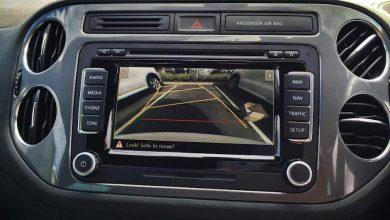Double din car stereo with reversing camera